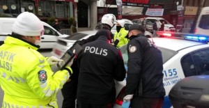 Esenyurt'ta Dolu Olan Minibüslere Ceza Kesildi
